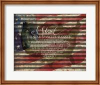 I Stand American Flag on Metal Fine-Art Print