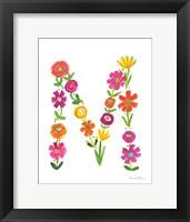Floral Alphabet Letter XIII Fine-Art Print
