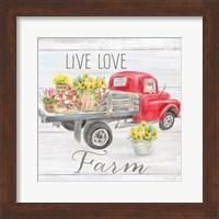 Vintage Truck Sentiment I (red) Fine-Art Print