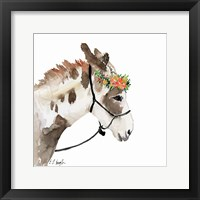 Pony with Floral Crown Fine-Art Print