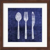 Indigo Spoon Fork Knife Fine-Art Print