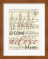 Come Let Us Adore Him Shiplap Fine-Art Print
