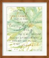 Teal Love is Patient Fine-Art Print