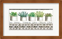 Do Small Things Succulents Fine-Art Print