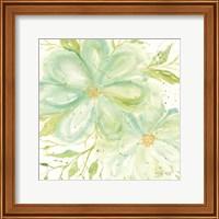 Teal Big Blooms Fine-Art Print