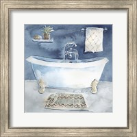 Watercolor Bathroom I Fine-Art Print