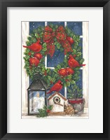 Pomegranate Christmas Wreath Fine-Art Print